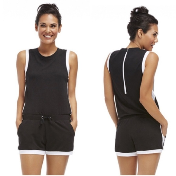 1c13e851c188 Fabletics Pants - Fabletics Black and White Lakeside Romper
